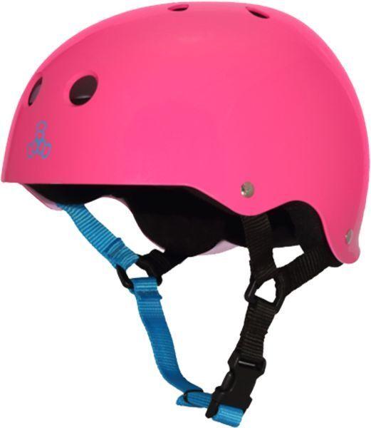 Triple 8 Helmet Neon  Gloss Fuscha XS  free shipping worldwide