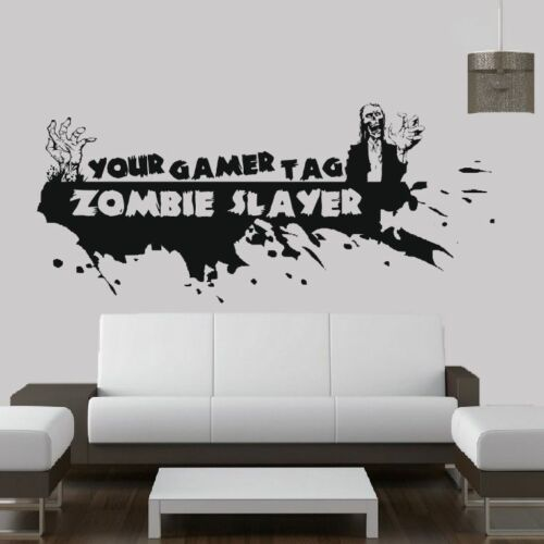 Call Of Duty Style Zombie & Gamer Tag - ps3 xbox wall art sticker ...