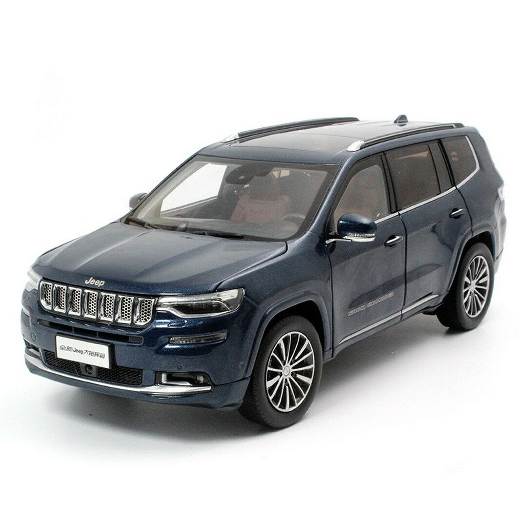 1/18 Scale Jeep Grand Commander blu Diecast Car Model + SMALL GIFT