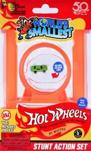 STUNT-ACTION-SET-Worlds-Smallest-Hot-Wheels-Loop-Track-Joiners-Exclusive-Car