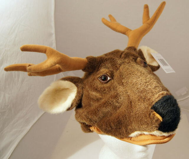 7c2bb5310a1 Frequently bought together. DEER HAT Halloween Costume FLOPPY ANTLERS Adult PLUSH  moose reindeer caribou cap