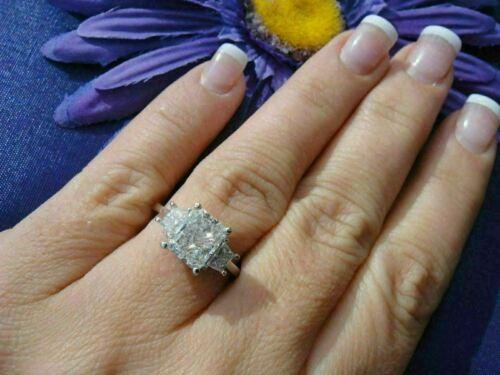 14K White Gold Finish 3Ct Radiant Cut Diamond Women/'s Wedding Engagement Ring
