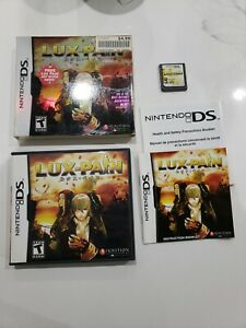 Lux Pain Nintendo DS CIB Video Game w/ Slipcover missing Art Book