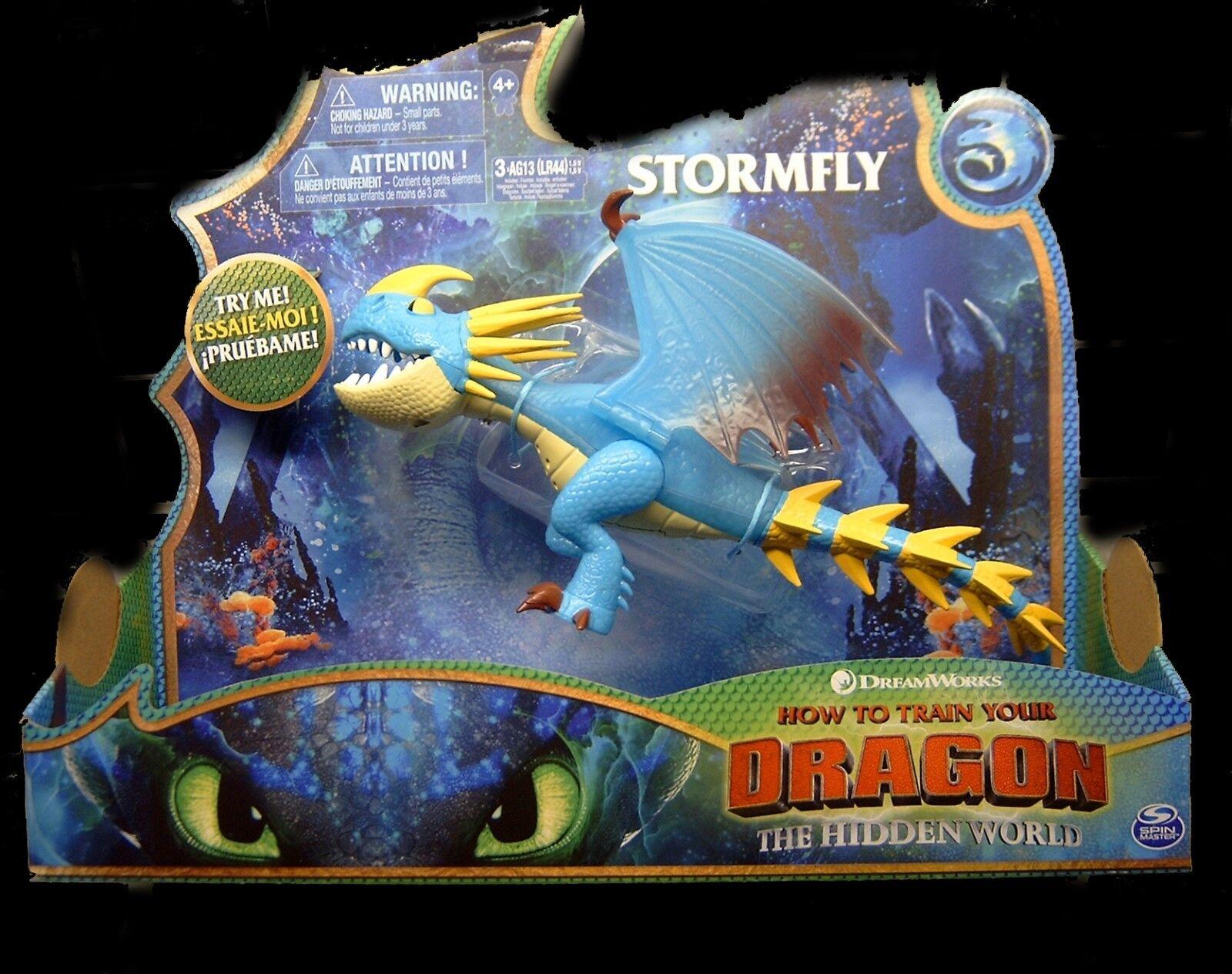 Dragons 3 - Die geheime Welt - Stormfly / Sturmpfeil Deluxe Light Sound NEU/OVP