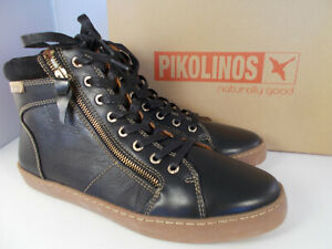 Pikolinos-Yorkville-Black-Leather-Sneaker-W0D-8756-Womens-Sz-11-5-12-EU-42-NIB