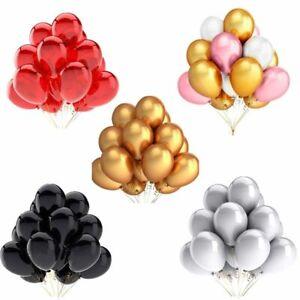 20pcs-Or-Blanc-Noir-Rose-Latex-Ballons-Fete-D-039-Anniversaire-Mariage-Decoration