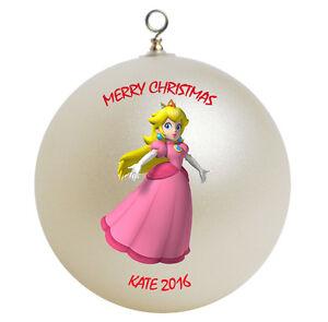 Personalized Super Mario Princess Peach Christmas Ornament ...