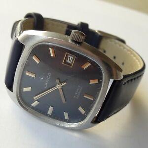 Vintage-LANCO-Incabloc-Handwinding17Jewels-Date-Cal-2461-Swiss-Made-Wristwatch