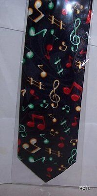 Musical Notes On Navy Tie Up-To-Date-Styling Kleidung & Accessoires Herren-accessoires