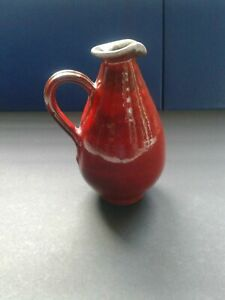 Red-Drip-Studio-Pottery-Bud-Vase-Marked-6-034