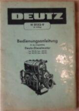 Deutz Motor Bedienungsanleitung für Schlepper F 4 L 514 , F 6 L 514