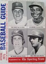 1976 Sporting News Baseball Guide Tom Seaver, Fred Lynn, Joe Morgan, Jim Palmer