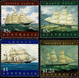 1998-AUSTRALIA-Maritime-Heritage-4-MNH