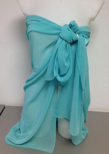 PANASIAM Sarong Pareo im Peacock-Design leichtes Sommertuch aus feiner Viskose