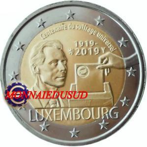 2-Euro-Commemorative-Luxembourg-2019-Suffrage-Universel-UNC-NEUVE
