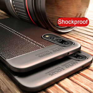 For-Huawei-P20-Pro-Lite-3E-Shockproof-Rubber-TPU-Leather-Slim-Back-Case-Cover
