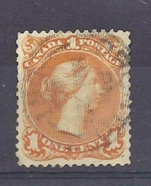 Canada Scott 23a 1c Deep Orange Large Queen EF used with CDS cancel. Cats $400!