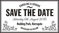Personalised Vintage SAVE THE DATE Rubber Stamp + Black Ink Pad