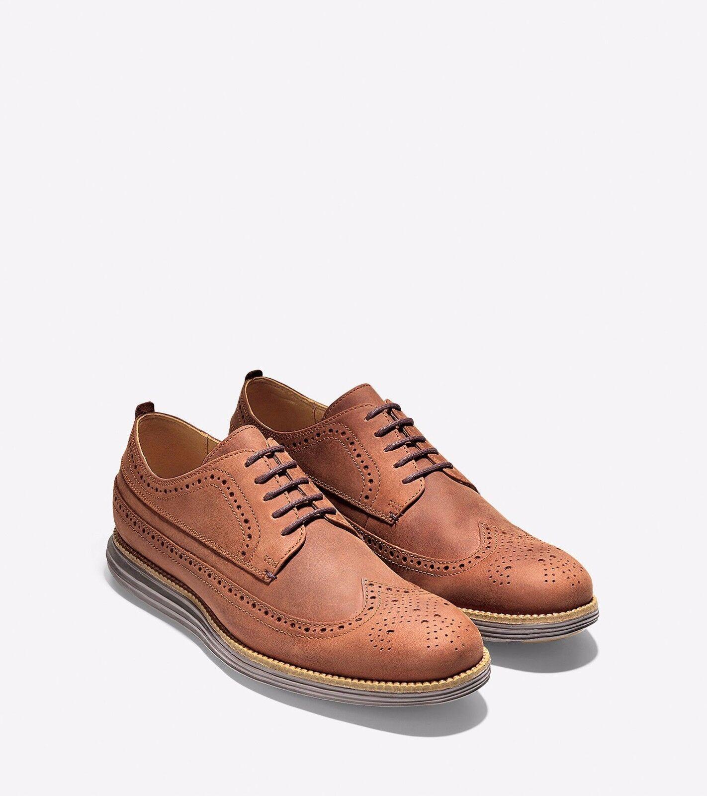 Cole Haan Homme Grand original long Bout D'Aile Chaussures Oxford 7 Woodbury C23436 nouveau