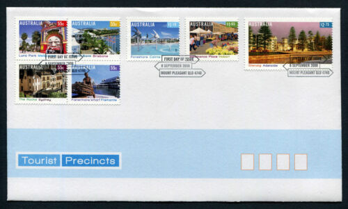2008 Tourist Precincts FDC First Day Cover Stamps Australia