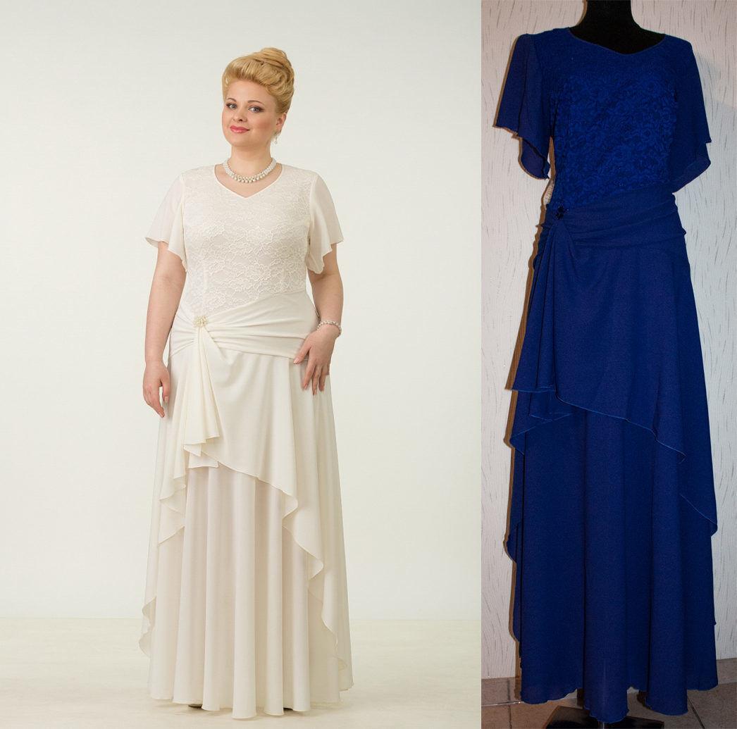 Abendkleid Big Größe Gr 48,54 Farbe Blau