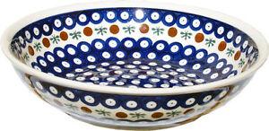 "Polish Pottery Pasta Bowl 10"" from Zaklady Boleslawiec 1013/41"