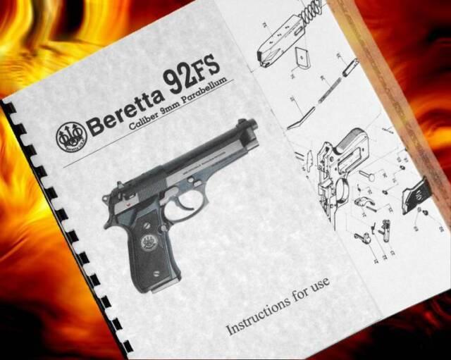beretta 92fs fs 9mm pistol gun owners instruction manual enhanced rh ebay com beretta m9 owners manual Beretta Pistol Owner's Manual