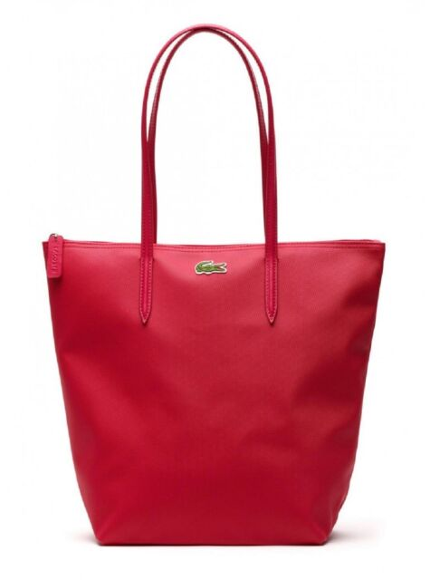 Lacoste Women S Essential Vertical Tote Bag Available In Virtual Pink
