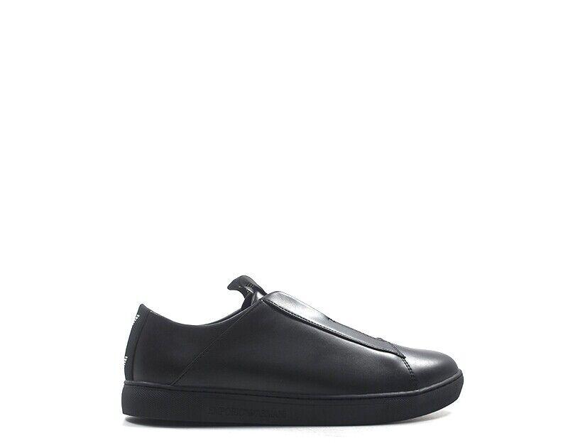 Zapatos EMPORIO ARMANI Homme negro Cuir naturel,PU X4X239-XL477-K001
