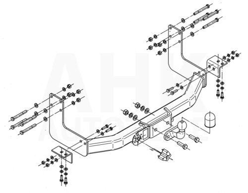 Für Mercedes-Benz Sprinter Kasten//Minibus 3.05 Anhängerkupplung starr+ES 7p ABE