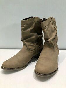 Damen Halbhohe Stiefel Boots Schuhe Camel Details Stiefeletten Zu Gr42 Cowboy IY76fgyvb