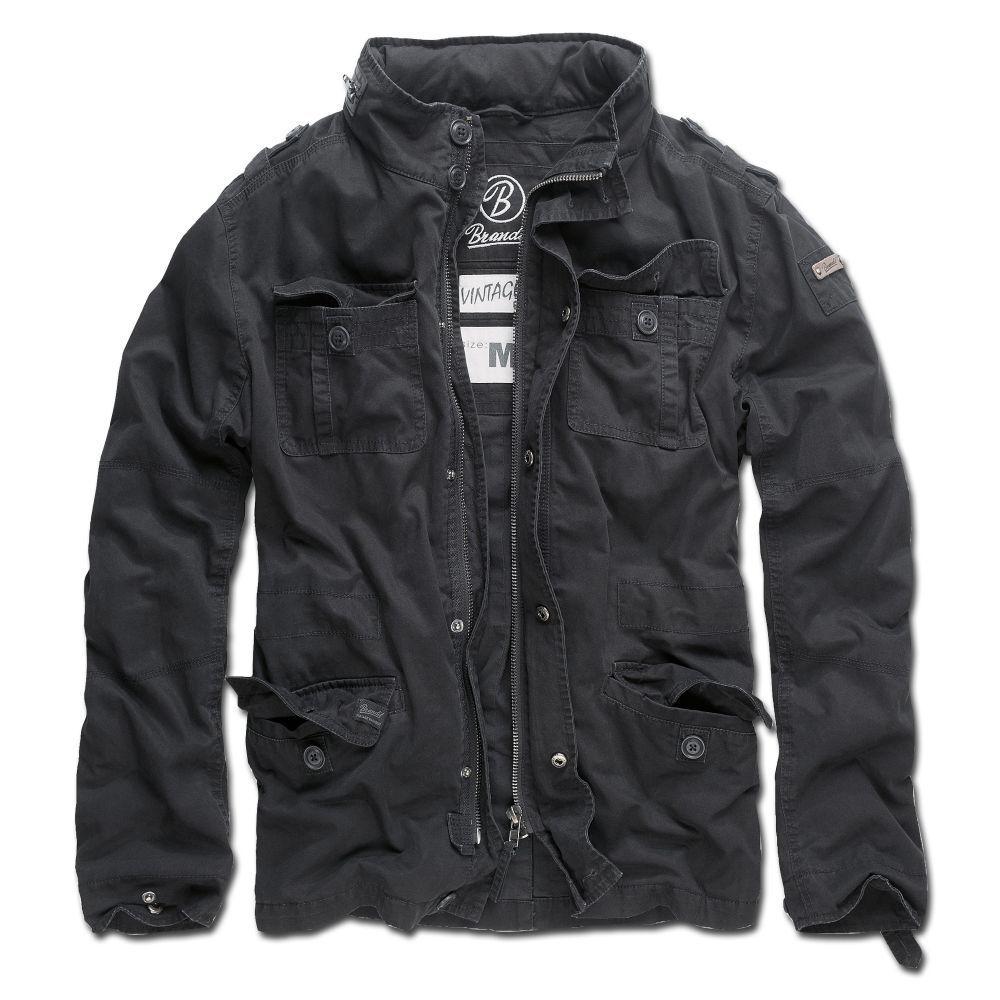 Brandit Jacke Britannia Übergangsjacke Sommerjacke Fieldjacke Outdoor schwarz