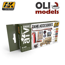 AFV Series: Tank Accessories Acrylic Paint Set - AK Interactive 4000