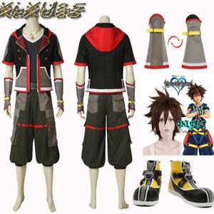 Hot Kingdom Hearts 3 Sora Cosplay Costume Customize Shoes Wig