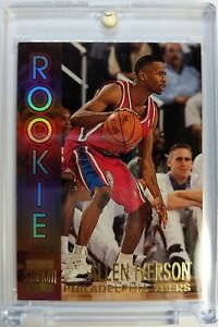 1996-97 Topps Stadium Club Allen Iverson Rookie RC #R16, Rare Insert, The Answer