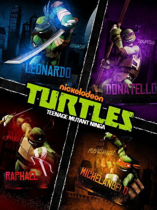 Teenage Mutant Ninja Turtles Kunst 2012 Wand Drucken POSTER UK
