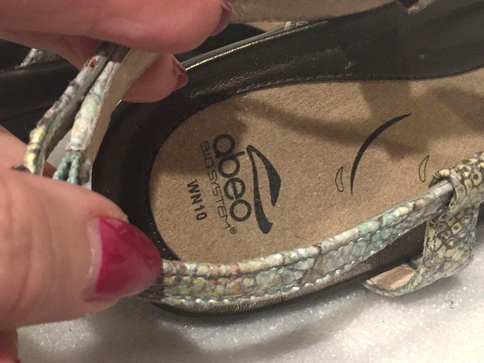 ABEO B.i.0. System 10 W N Georgie Neutral Metallic Leather Leather Leather DRESS Sandals b6c61b