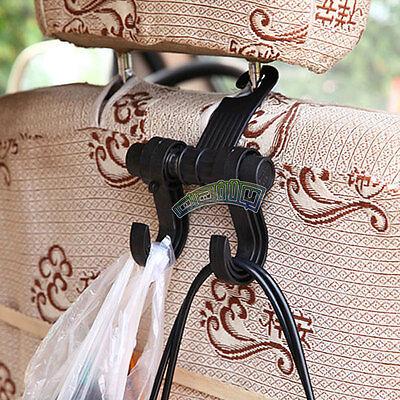 Car Back Seat Headrest Hanger Holder Double Hook Organizer For Bag Cloth Towel
