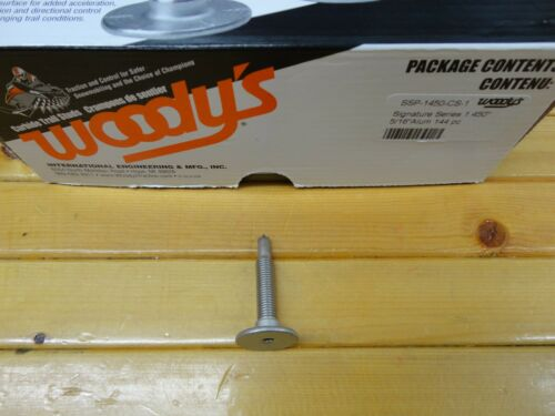 """96 NEW WOODY/'S SIGNATURE SERIES CARBIDE STUDS WITH LOCK NUTS 1.450/"""" LENGTH"""