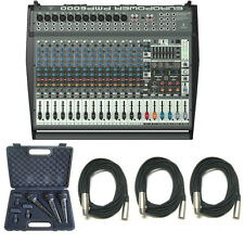 Behringer PMP6000 20-Channel 1600W Amplified Mixer w/3x Pro Mics & 3x XLR Cables
