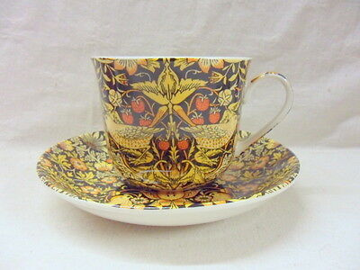 Blue Olde England Jumbo Cup and Saucer made for Heron Cross Pottery.