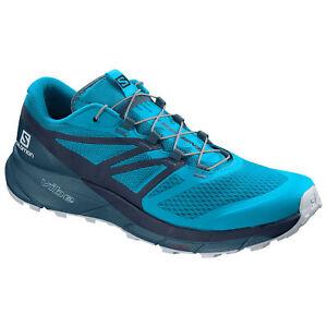 Detalles acerca de Salomon Sense Ride 2 406738 Azul Marino/Azul Zapatos  Para Hombre Senderismo Excursionista- mostrar título original