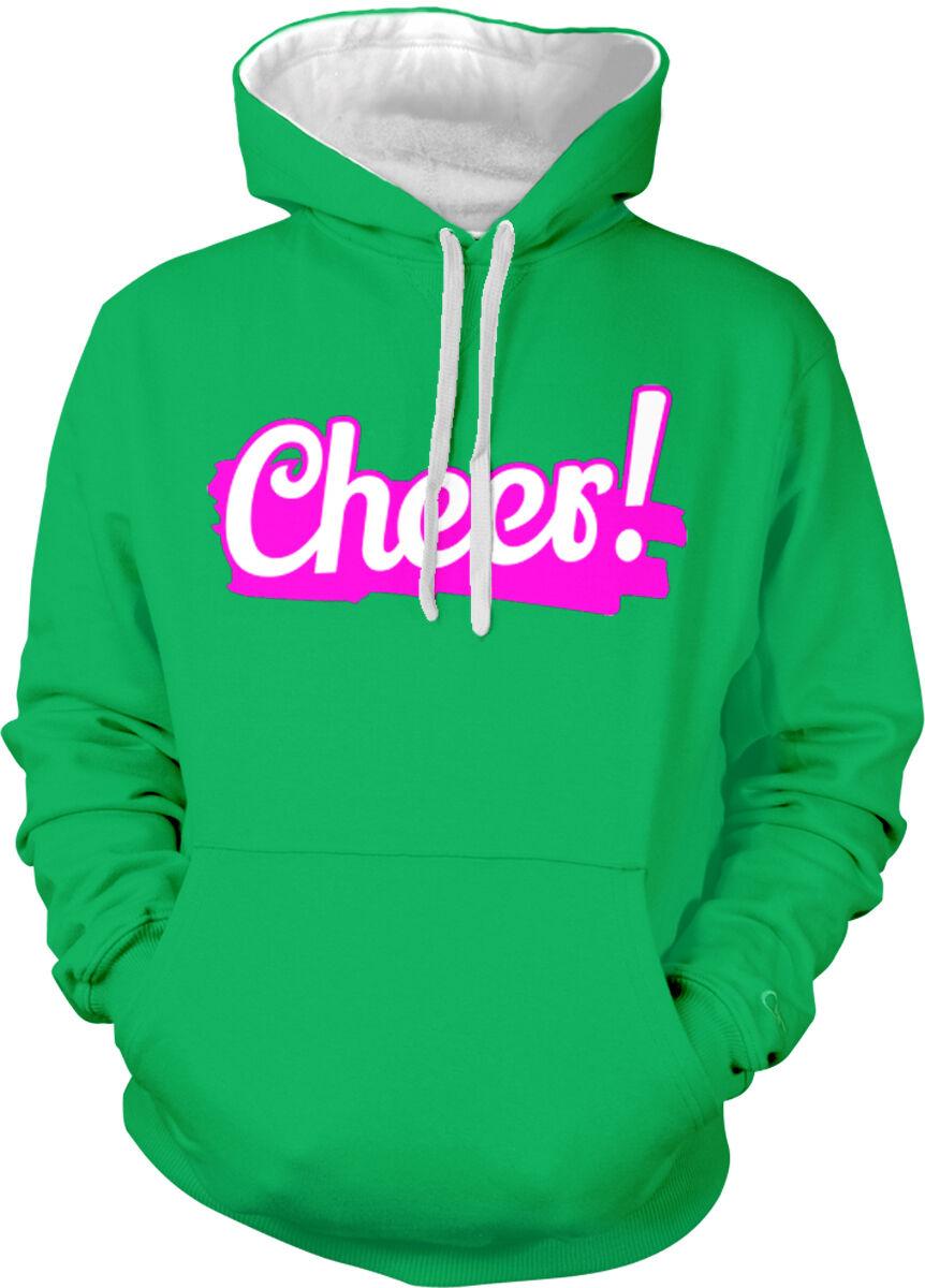Cheer  Cheerleading Team Cheers Cheerleader To Toast Two Tone Hoodie Sweatshirt