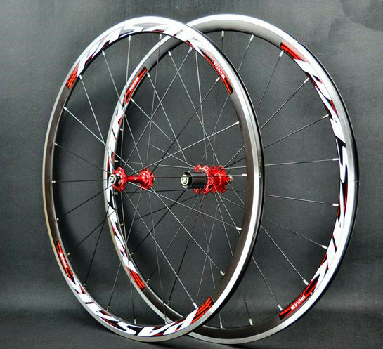 38b35d7c4a9 Road Bike Ultra Light Bearing 700c Wheels Wheelset 30mm Rims 1660g for sale  online | eBay