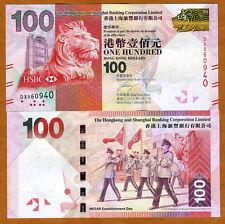 Hong Kong, $100, 2012, HSBC, P-213-New, UNC > Lion