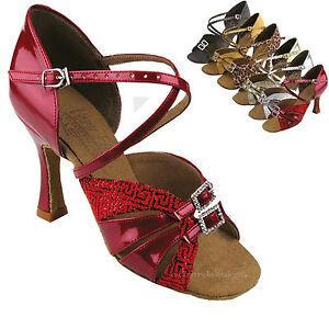 "Women's Ballroom Salsa Tango Party Jive Dance Shoes 2/2.5/3"" Very Fine S92307"