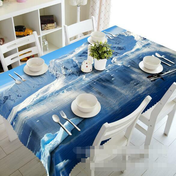 3D Snow lake 8 Tablecloth Table Cover Cloth Birthday Party Event AJ WALLPAPER AU