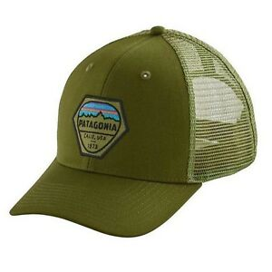 Patagonia Mens - Fitz Roy Hex Trucker Hat Cap - Sprouted Green ... 44580dd21df3