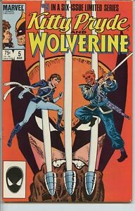 Kitty-Pryde-and-Wolverine-1984-series-5-very-fine-comic-book