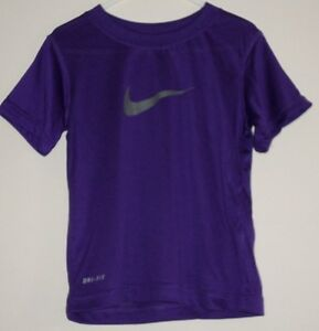 NEUF-NIKE-SIGLE-3-ans-violet-DriFit-haut-t-shirt-sport-football-garcon-fille